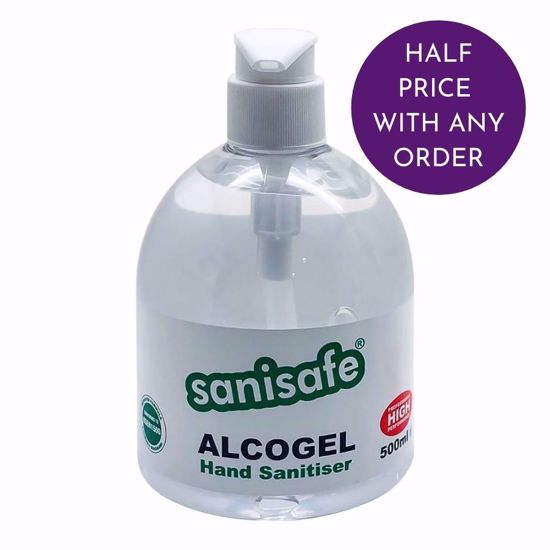 Picture of SaniSafe - Alcohol Hand Sanitiser Gel 500ml