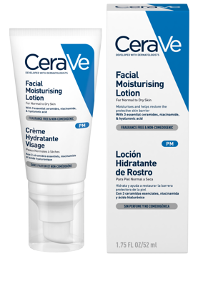 CERAVE FACIAL MOIST LOTION NO SPF - 52ML - Flawless Body